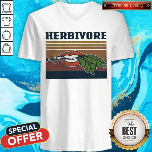 Factory Hardcore Herbivore Vintage V-neck