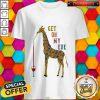 Giraffe Drink Wine Get On My Level Shirt