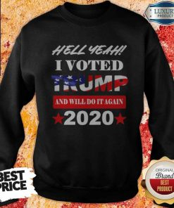 Hell Yeah I Voted Trump And Will Do It Again 2020 Sweatshirt