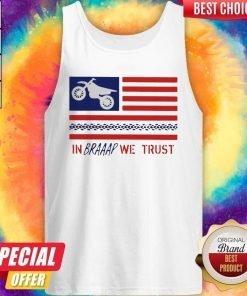 In Braaap We Trust Dirt Bike Patriotic USA Tank Top