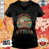 Keep Calm And Save The Otters Vintage V-neck