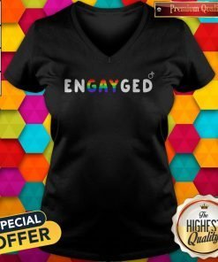 LGBT Engayged Ring V-neck