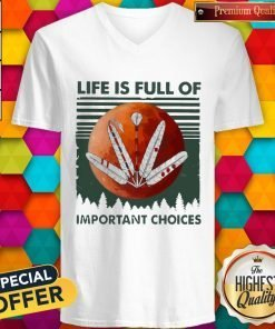 Life Os Full Of Important Choices Moon Vintage V-neck