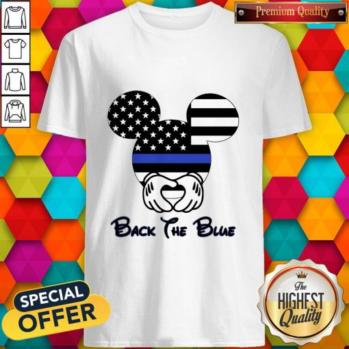 Mickey Mouse American Flag Back The Blue Shirt