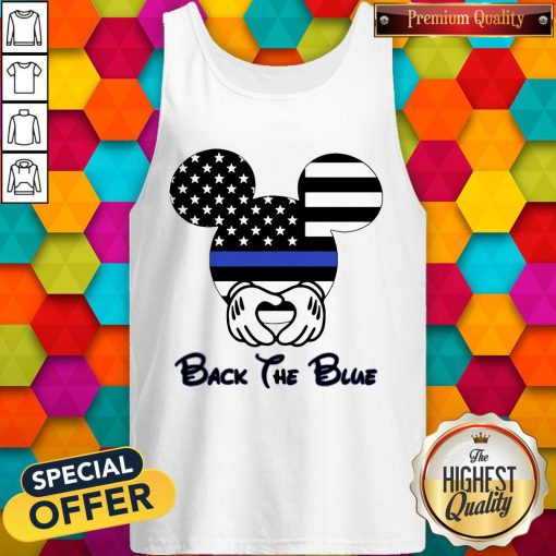 Mickey Mouse American Flag Back The Blue Tank Top
