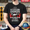 Never Under Estimate A Grandpa Diver Shirt