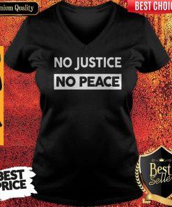 No Justice No Peace Style V-neck