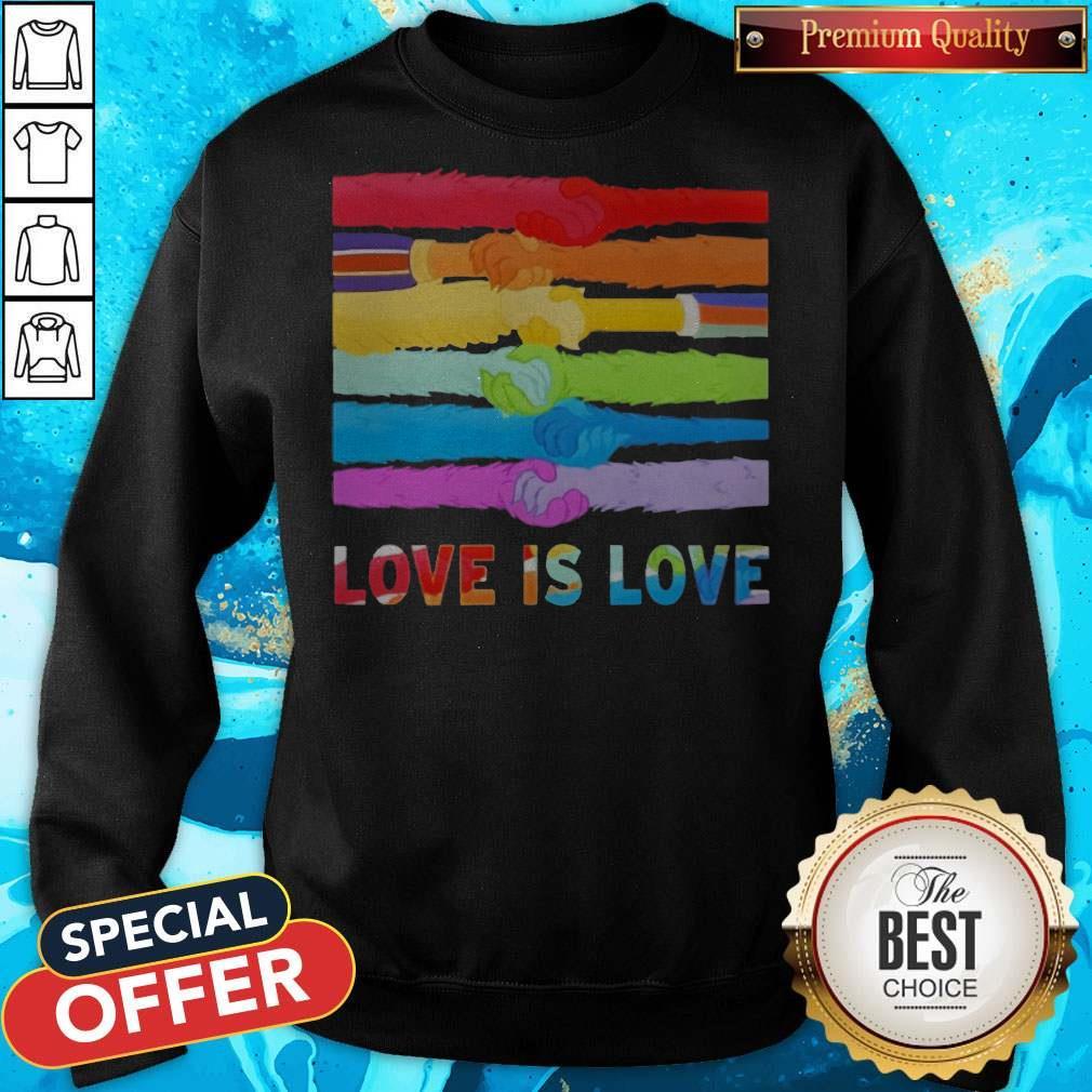 Official LGBT Love Is Love Sweatshirt