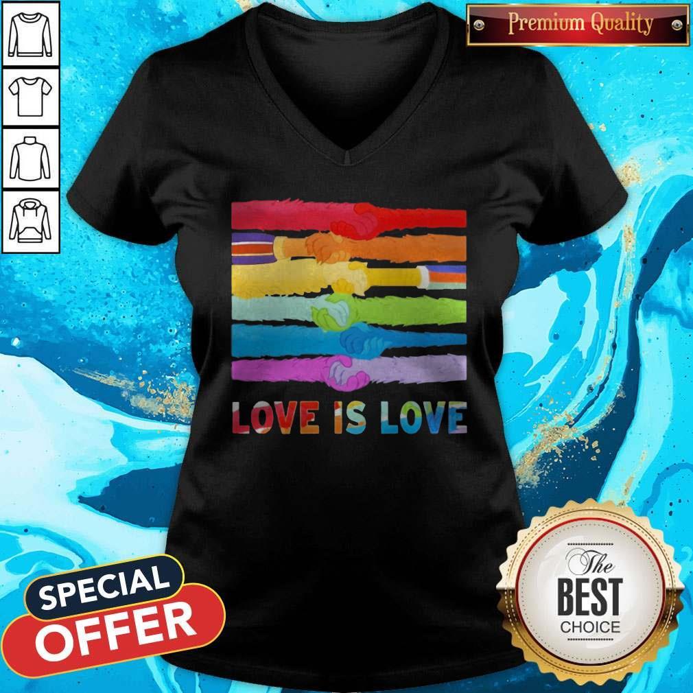 Official LGBT Love Is Love V-neck