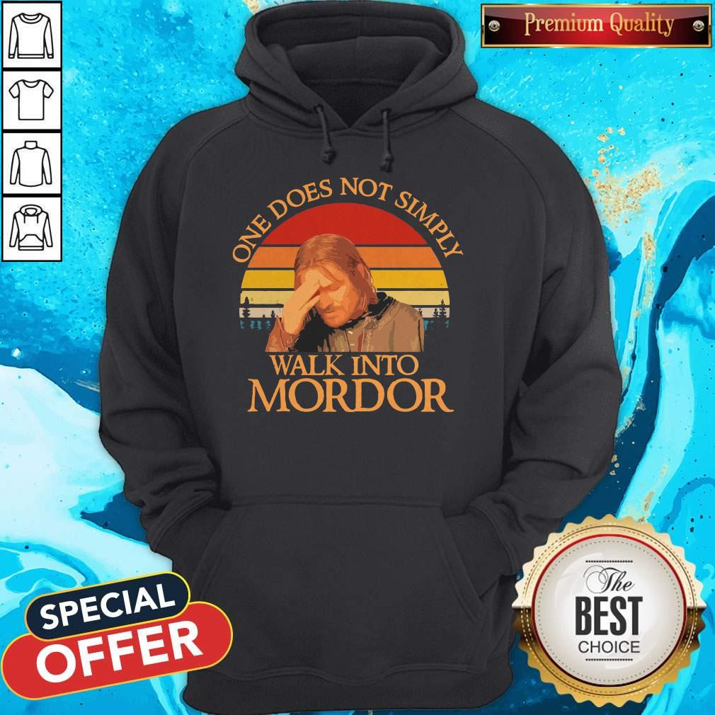 One Does Not Simply Walk Into Mordor Vintage Hoodie