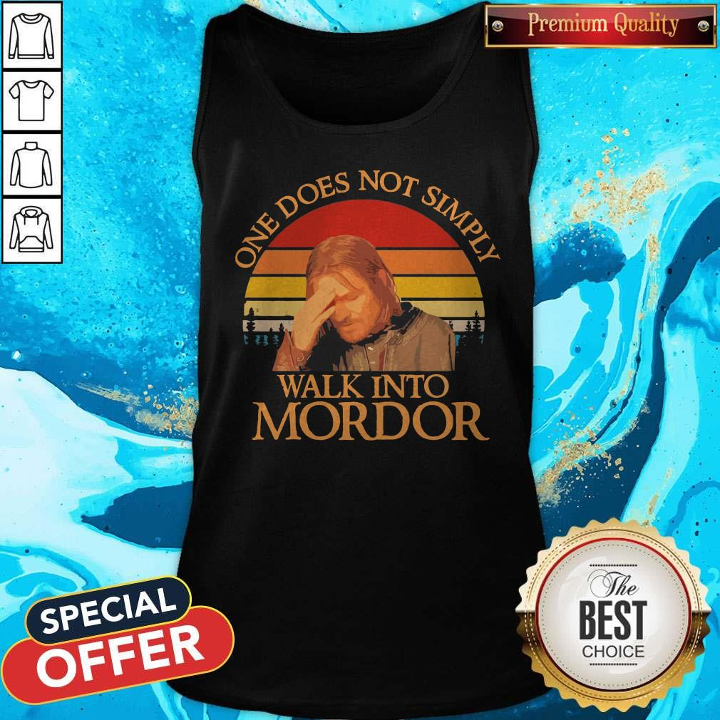 One Does Not Simply Walk Into Mordor Vintage Tank Top