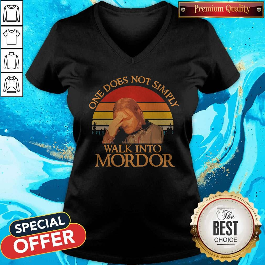 One Does Not Simply Walk Into Mordor Vintage V-neck