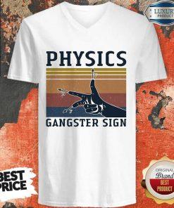 Physics Gangster Sign Vintage V-neck