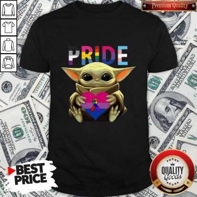 Pride Baby Yoda Hug Heart Awareness Shirt