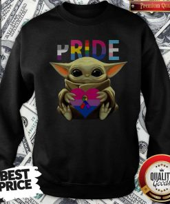 Pride Baby Yoda Hug Heart Awareness Sweatshirt