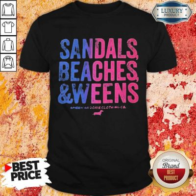 Sandals Beaches And Weens American Doxie Clothing Co Dachshunds Shirt