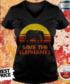 Save The Elephants Vintage V-neck