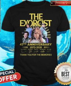 The Exorcist 47th Anniversary 1973 2020 Thank You For The Memories Signatures Shirt