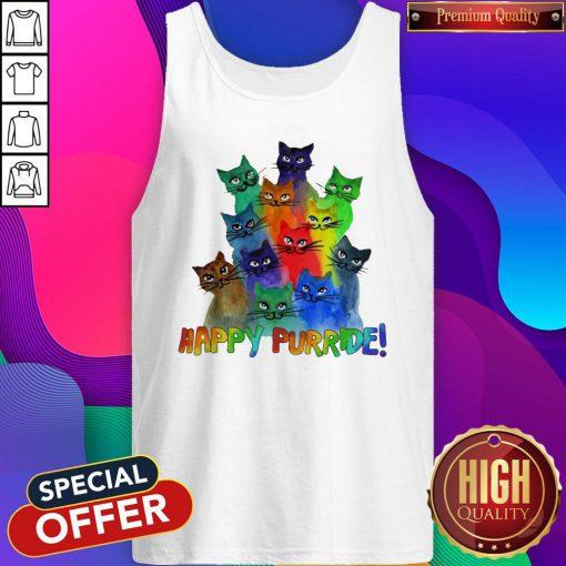 Top Cats Happy Purride Tank Top