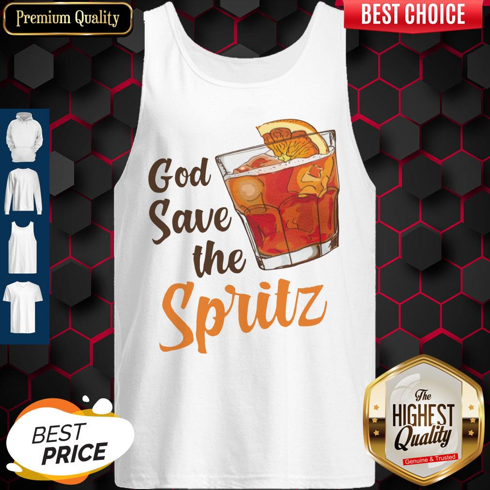 Top Cocktail God Save The Spritz Tank Top