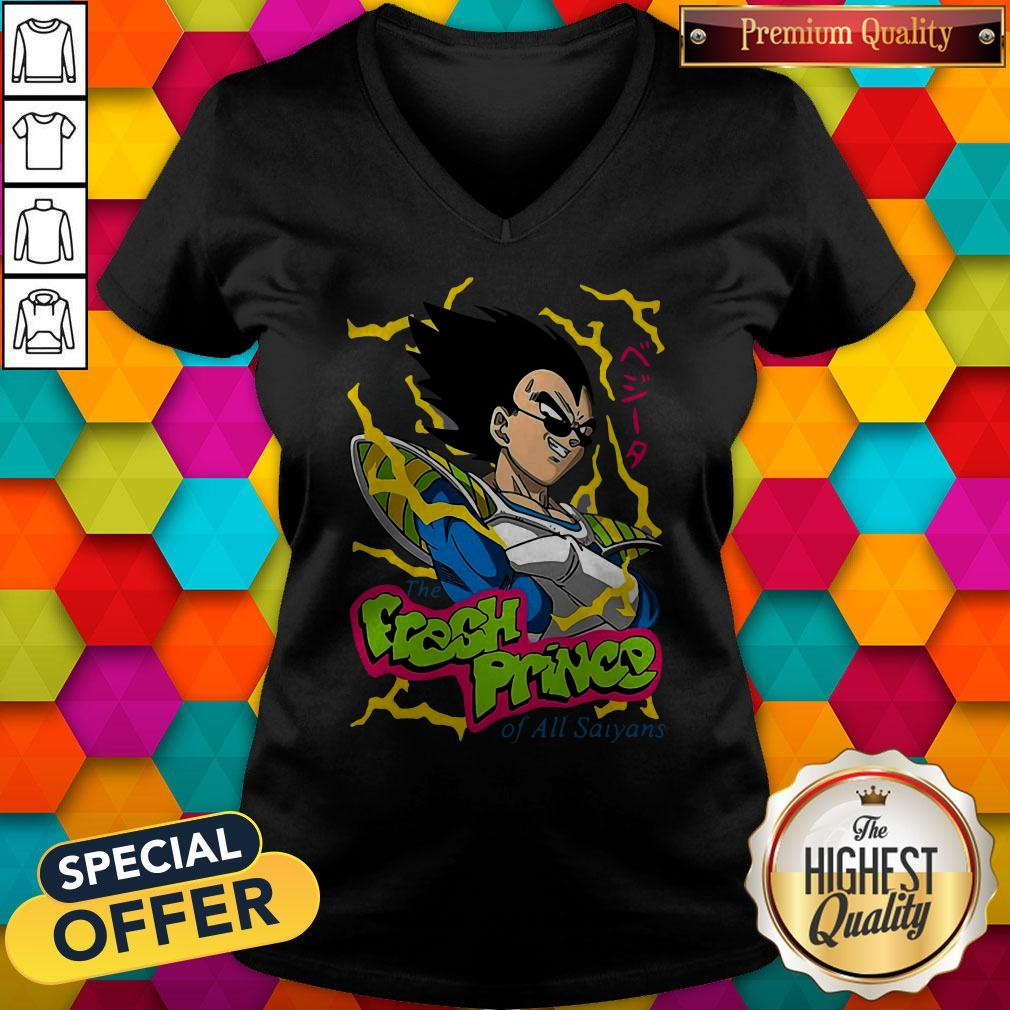 Vegeta The Fresh Prince Of All Saiyans V-neck