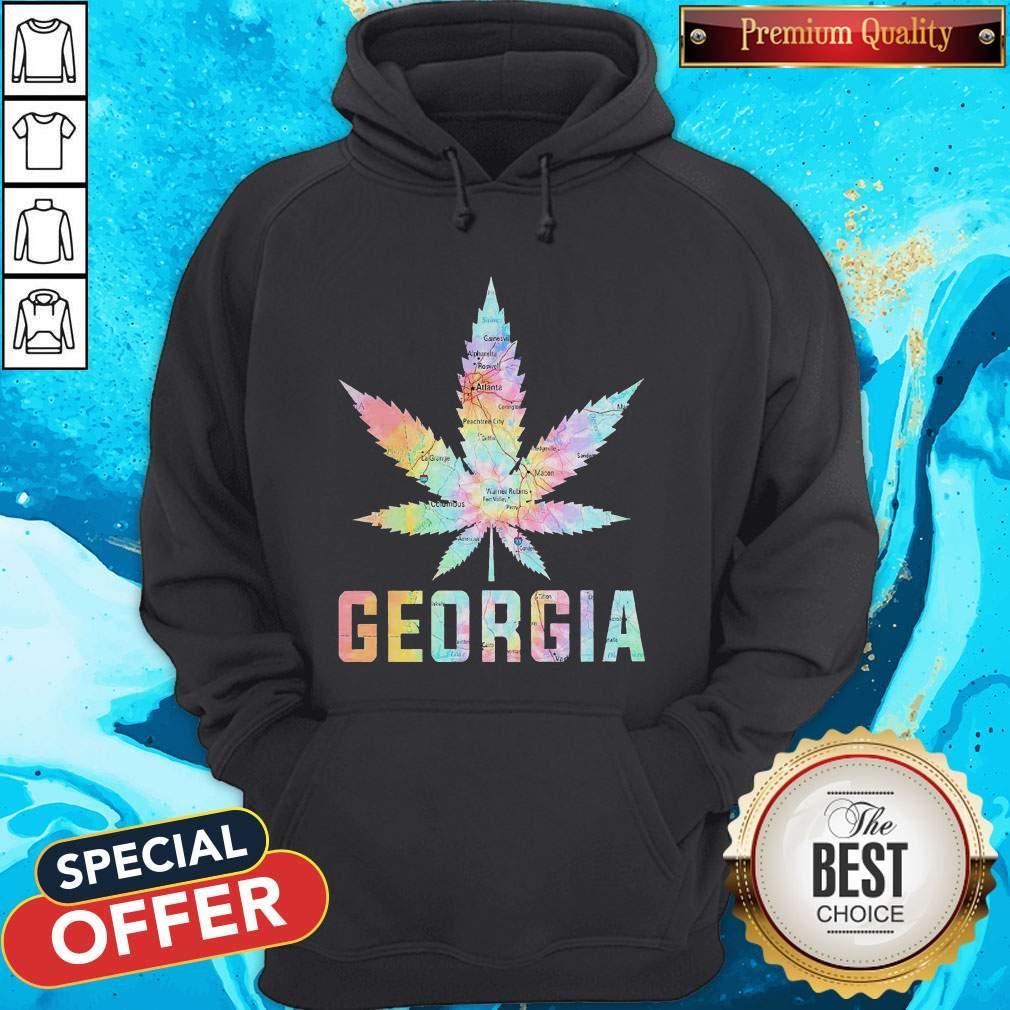 Weed Marijuana Georgia To Map Hoodie