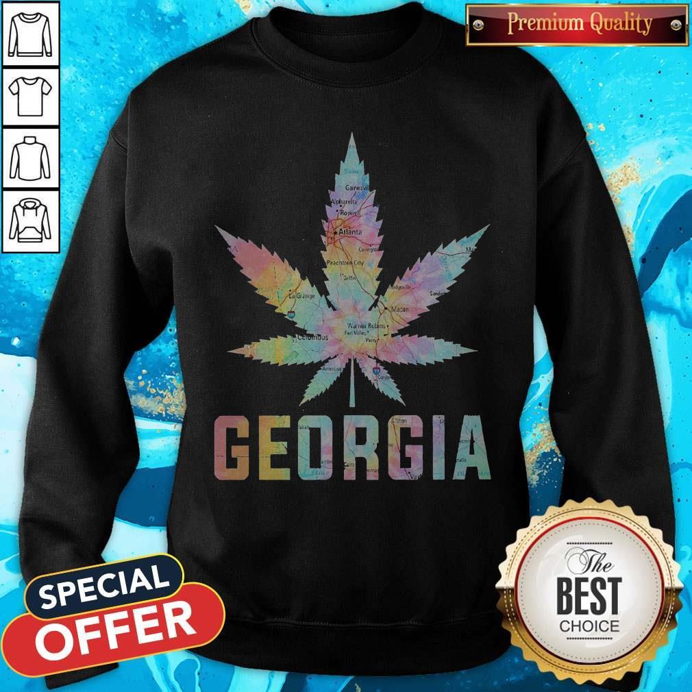 Weed Marijuana Georgia To Map Sweatshirt