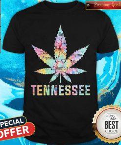 Weed Marijuana Tennessee To Map Shirt