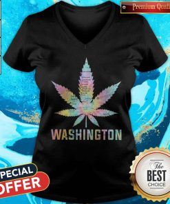 Weed Marijuana Washington To Map V-neck