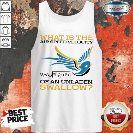 What Is The Air Speed Velocity Of An Unladen Swallow Math Tank Top