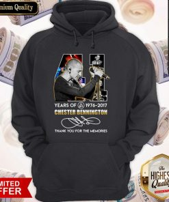 41 Years of Chester Bennington 1976 2017 Thank You For The Memories Signature Hoodie