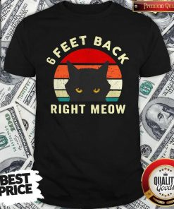 6 Feet Back Right Meow Vintage Shirt