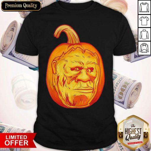 Bigfoot Carved Pumpkin Sasquatch Jack O' Lantern Halloween Shirt