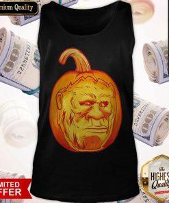Bigfoot Carved Pumpkin Sasquatch Jack O' Lantern Halloween Top