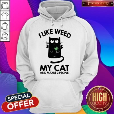 I Like Weed My Cat And Maybe 3 People Hoodie