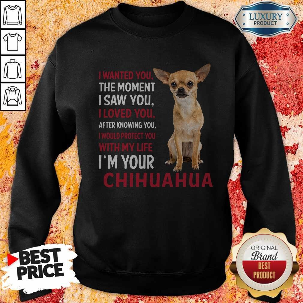 I Wanted You The Moment I'm Your Chihuahua Sweatshirt