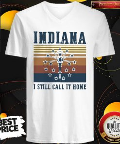 Indiana I Still Call It Home Vintage Retro V-neck