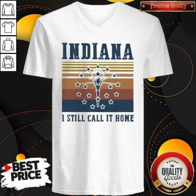 Indiana I Still Call It Home Vintage Retro V-neck
