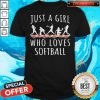 Just A Girl Who Love Softball Shirt