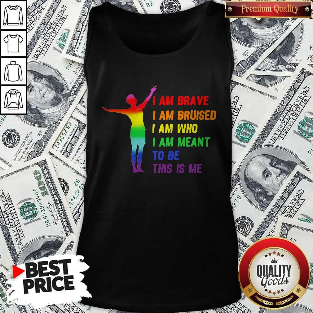 Megan Rapinoe I Am Brave Bruised Who Meant To Be LGBT Flag Tank Top