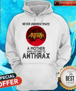 Never Underestimate A Mother Who Listens To Anthrax Moon Hoodie