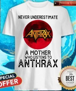 Never Underestimate A Mother Who Listens To Anthrax Moon Shirt