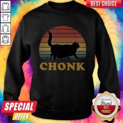 Official Black Cat Chonk Vintage Sweatshirt