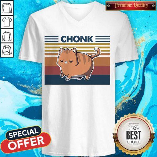 Official Cat Chonk Vintage V-neck