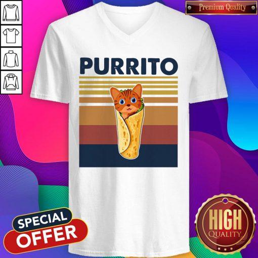 Official Cat Perrito Vintage V-neck