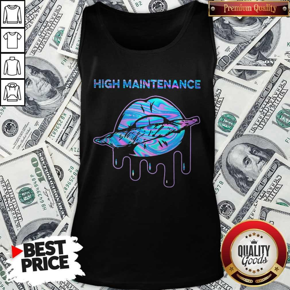 Official Lips Weed High Maintenance Tank Top