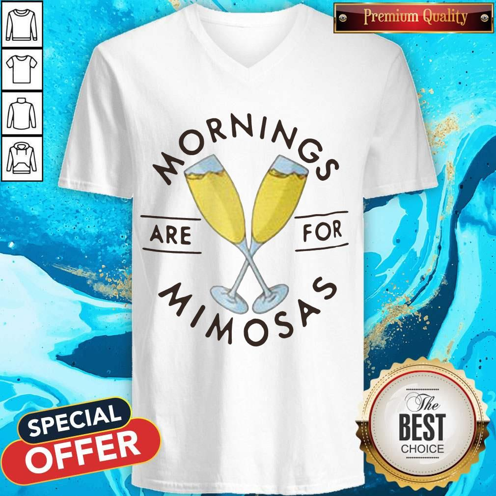 Official Mornings Are For Mimosas V-neck