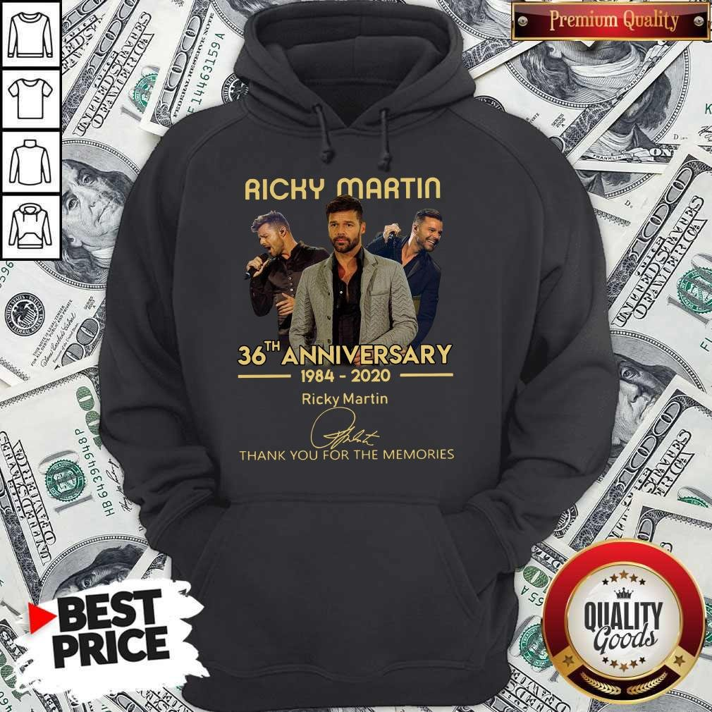 Ricky Martin 36th Anniversary 1984-2020 Thank You For The Memories Signature Hoodie