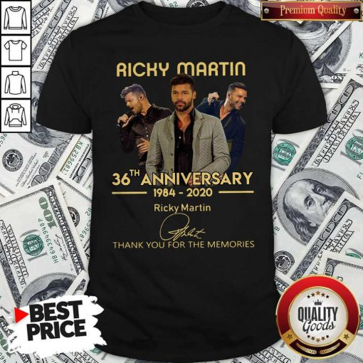 Ricky Martin 36th Anniversary 1984-2020 Thank You For The Memories Signature Shirt