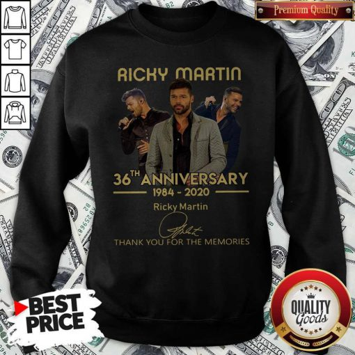 Ricky Martin 36th Anniversary 1984-2020 Thank You For The Memories Signature Sweatshirt